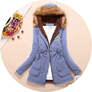 The Small cat New Winter Military Coats Women Cotton Wadded Hooded Jacket Medium-Long Casual Parka Snow Outwear