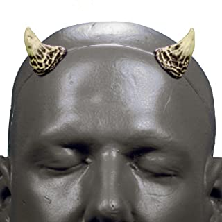 Houndstooth v1 Bone & Black Devil Horns w/ self locking clear headband