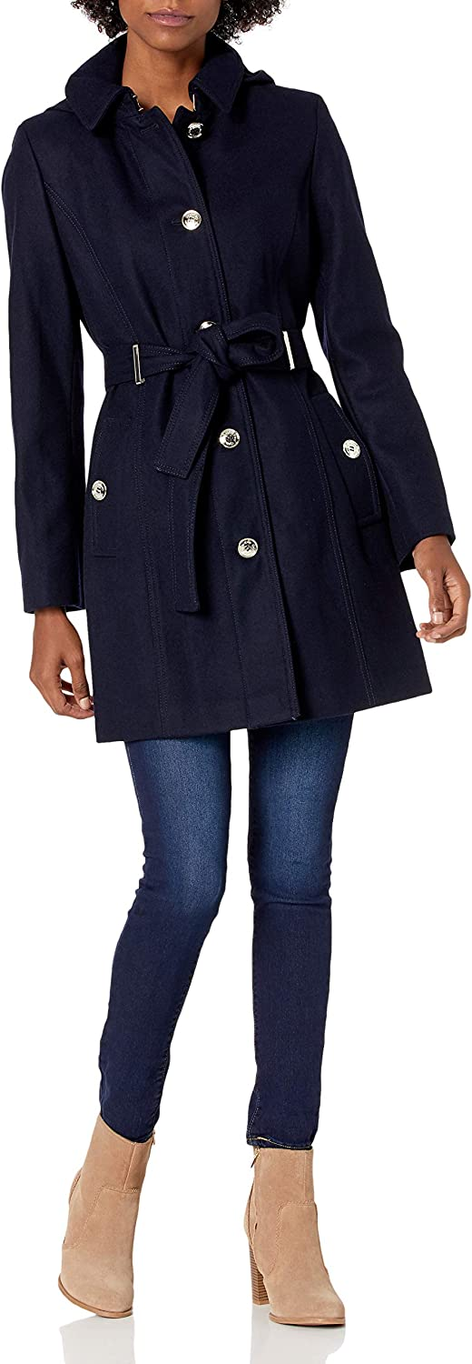 Calvin 70% OFF Outlet Klein Women's Wool with Quality inspection Front and Belt Button