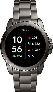 Fossil Homme Montre Connectée Gen 5 + 5E avec haut-parleur, fréquence cardiaque, NFC et alertes pour smartphones