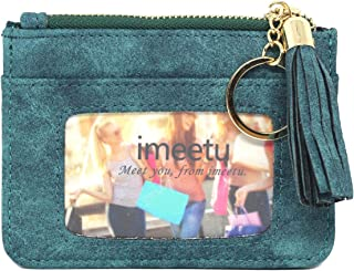 imeetu Women's Coin Pouch Leather Change Purse Wallet, Slim Card Case