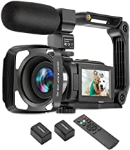 ZUODUN 4K Camcorder 60FPS Ultra HD Vlogging Video Camera for YouTube 48MP 16X Digital Zoom IR Night Vision WiFi Vlog Recor...