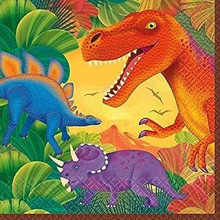 Amscan 16 Napkins Prehistoric Party, Multi-Colour