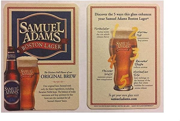 Samuel Adams Boston Lager 20 Beer Bar Pub Coasters New
