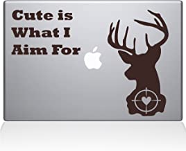 "The Decal Guru Deer Hunting Macbook Decal Vinyl Sticker  - 15"" Macbook Pro (2016 & newer) - Brown (1246-MAC-15X-BRO)"