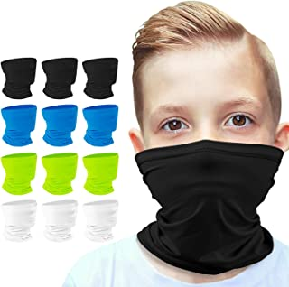 [12-Pack] 6-14 Years Kids Cooling Neck Gaiter Scarf,...