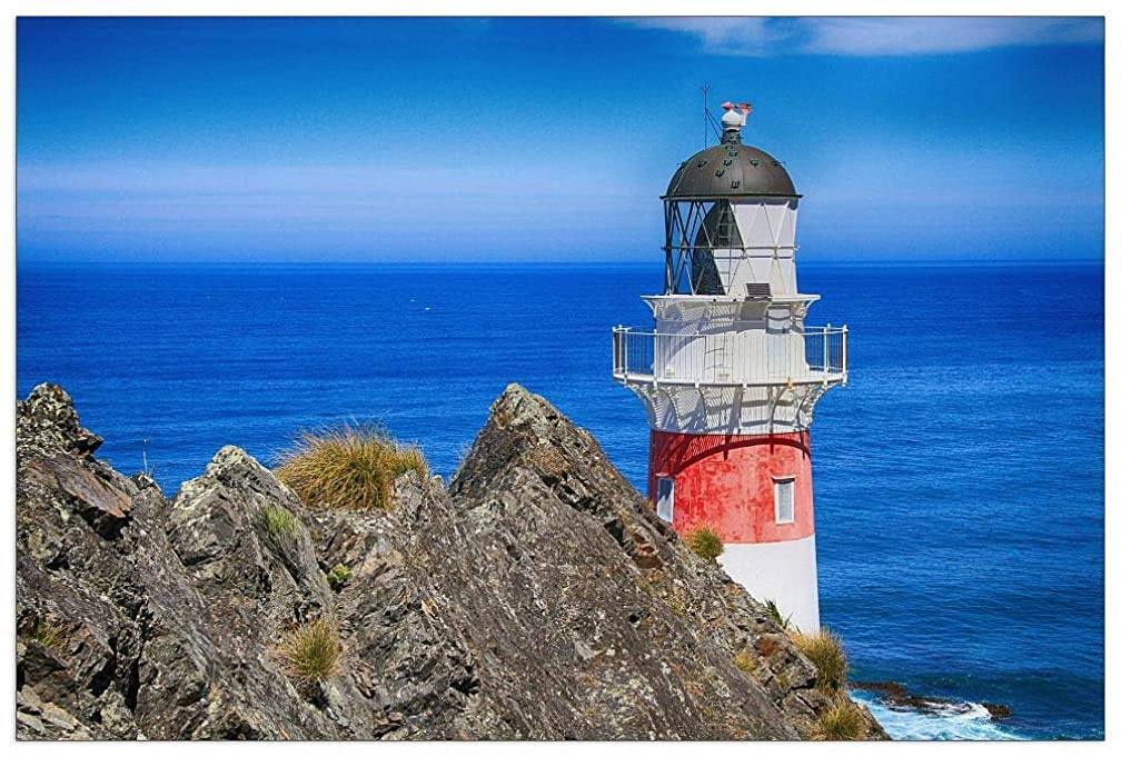 ArtPlaza TW93355 Art Studio - Lighthouse Decorative Panel 39.5x27.5 Inch Multicolored