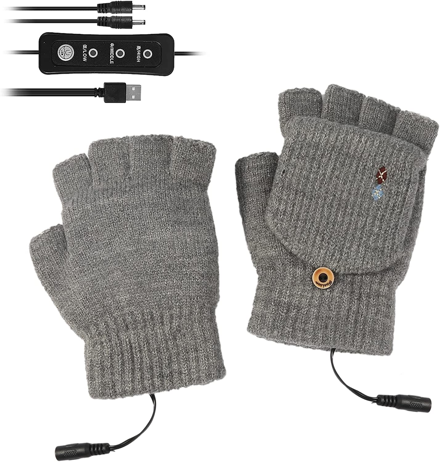 Yinuoday USB Heated High quality new Import Gloves Winter Temperature Levels Electric 3