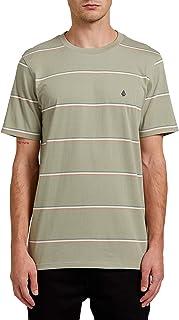 Volcom Men's Yewbisu Crew Short Sleeve Striped Shirt