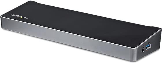 StarTech.com Triple Monitor USB 3.0 Laptop Docking Station - 4K HDMI, 2X DisplayPort - Universal USB Dock for Windows & Mac OS (USB3DOCKH2DP)