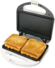 Uniware High Quality Sandwich Maker with Case, ETL Certified, Non-Stick Coating Plate, Cool Touch Housing, with Thermostat...