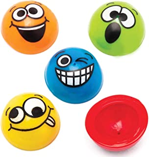 Baker Ross Funky Faces Jumping (Pack de 12) Poppers de cara sonriente perfecto para bolsas de fiesta o ideas de regalo, va...