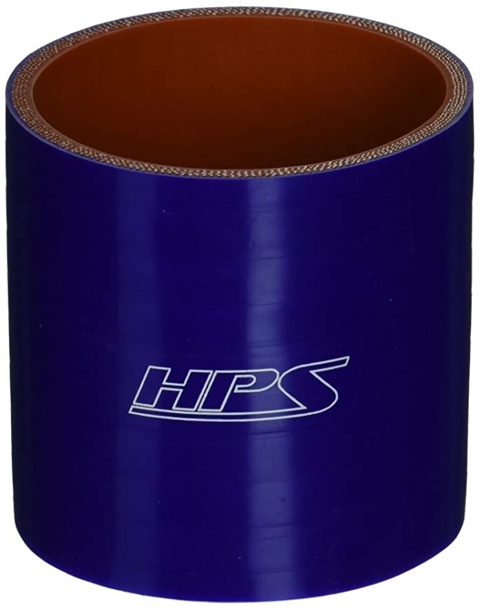 HPS HTSC-287-BLUE Silicone High Temperature 4-ply Reinforced Straight Coupler Hose, 75 PSI Maximum Pressure, 3