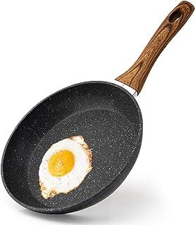 RAINBEAN Poêle à frire, Anti-adhésives à Induction Casserole 20cm/ 7,9 pouce, Aluminium Forgé Pour Hamburgers à Hot-dog au...