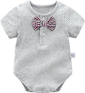 ملابس صيفية للأطفال بألوان الحلوى رومبير للأطفال حديثي الولادة من 0-24 شهرًا (Color : Gray, Size : 90CM)