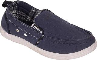 BATA Men Blue Casual Canvas Shoes