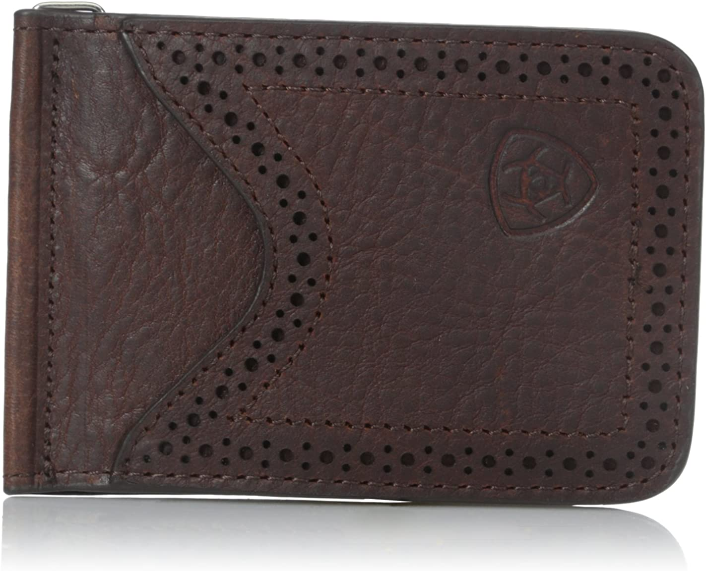 Ariat Men's Boot Vent Money Clip Copper Wallet