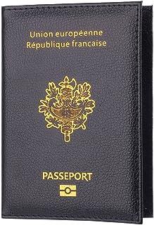zycShang Porte-Passeport Housse, Passeport Titulaire Protecteur Portefeuille Carte De Visite Souple Passeport Couverture (...