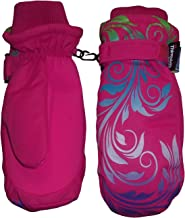 N'Ice Caps Girls Ombre Shaded Scroll Print Thinsulate Waterproof Snow Mitten