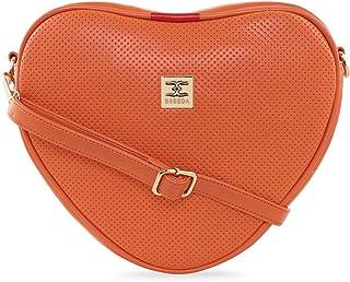ESBEDA Orange Color Heart Shape Sling Bag For Women