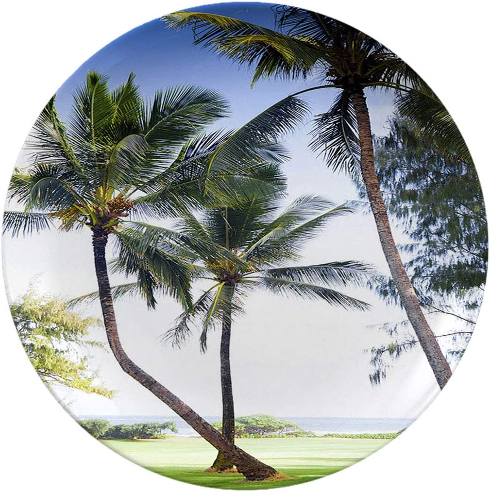 Ceramic Stoneware Dinner specialty shop Plates Palm Tree In Ha On Surprise price Golf A Course