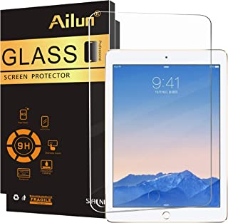 Ailun Screen Protector for New iPad 9.7 Inch 2018 2017 6th 5th Gen iPad iPad Air 2 1 Tempered Glass Compatible Apple iPad Air 1 2 Generation 2.5D Edge Anti-Scratch Case Friendly