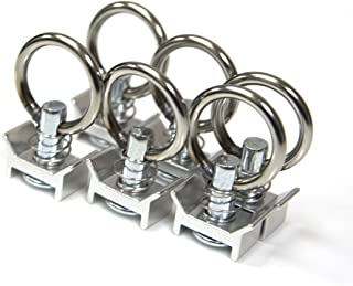 CYC 5002, Single Stud Fitting with O-Ring, Application for Logistic Installation and L-Track Uses (6-Pack)