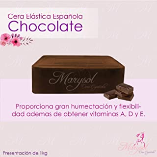 Cera Depiladora de Chocolate Española Elastica Marysol hard wax Depilacion sin Bandas No-Strip Disposable