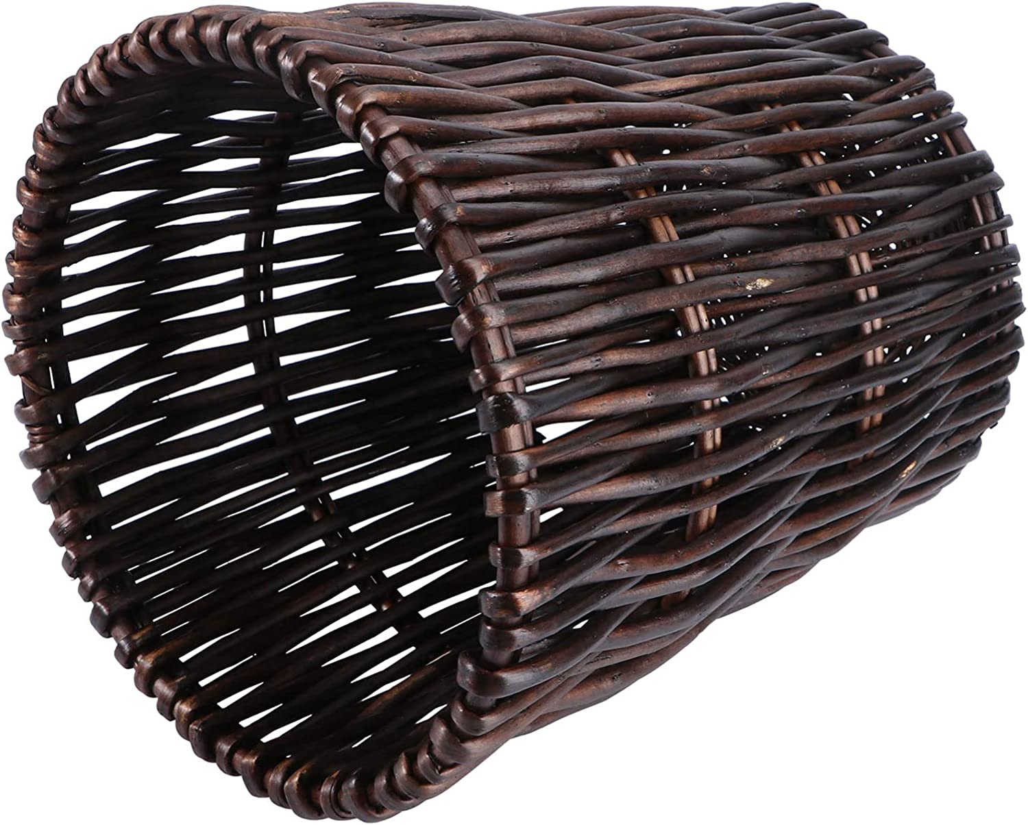 BESPORTBLE Recommended Round Rattan Waste Basket Can Paper Trash Direct store Woven