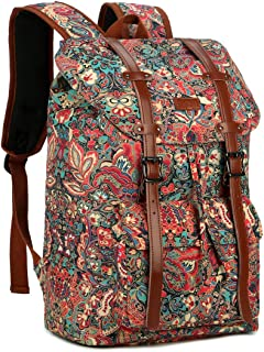 "BAOSHA Casual Large College School Daypack Travel Hiking Camping Rucksack 15.6"" Laptop Backpack for Women BP-02 (Multicolour)"