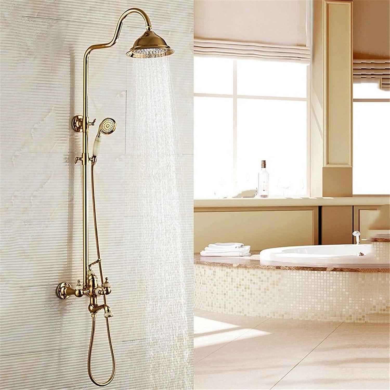 Gyps Faucet Basin Mixer Tap Waterfall Faucet Antique Bathroom Mixer Bar Mixer Shower Set Tap antique bathroom faucet The gold retro shower faucet kit full copper wall mounted lift bathroom faucet heat