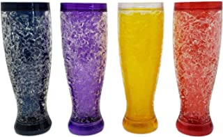 Freezable Double Wall Crackle Gel Tall Pilsener Beer Soda Lemonade Iced Tea Glasses Keep Drinks Cold (4)