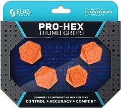 Sliq Gaming PS4 Pro-Hex Thumb Stick Grips – PlayStation 4 - Orange