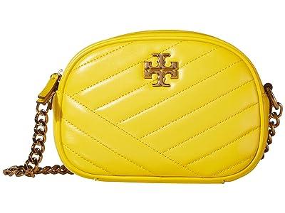 Tory Burch Kira Chevron Small Camera Bag (Limone) Handbags