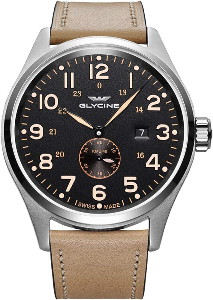 Glycine orologio automatico uomo con cinturino in pelle GL0132