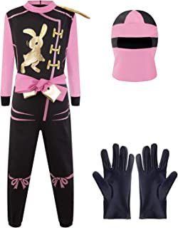 Katara Talla L (8-10 años) Disfraz de Ninja Dragón para Niña Carnaval, Cosplay, color rosa, (1771) , color/modelo surtido
