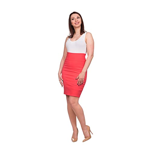 60d238eeba OrlyCollection Women's Elegant Slim Fit Midi Stretchy Pencil Skirt for Office  Wear Proudly Made in USA