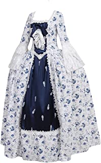 Women's Victorian Rococo Dress Inspiration Maiden Costume NQ0032