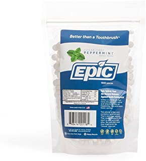 Epic Dental 100% Xylitol Sweetened Breath Mints, Peppermint Flavor, 1000 Count Bag