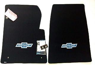 Lloyd Mats Compatible with 1967-1970 Chevy C30 Pickup 2 PC Front Black Loop Carpet w//Vintage Bowtie Logo
