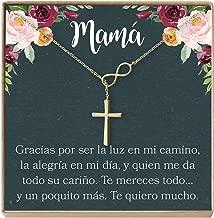 Collar Regalo para Madre, Mamá, Día de la Madre, Cumpleaños, Día de la Mujer, Infinity Cross