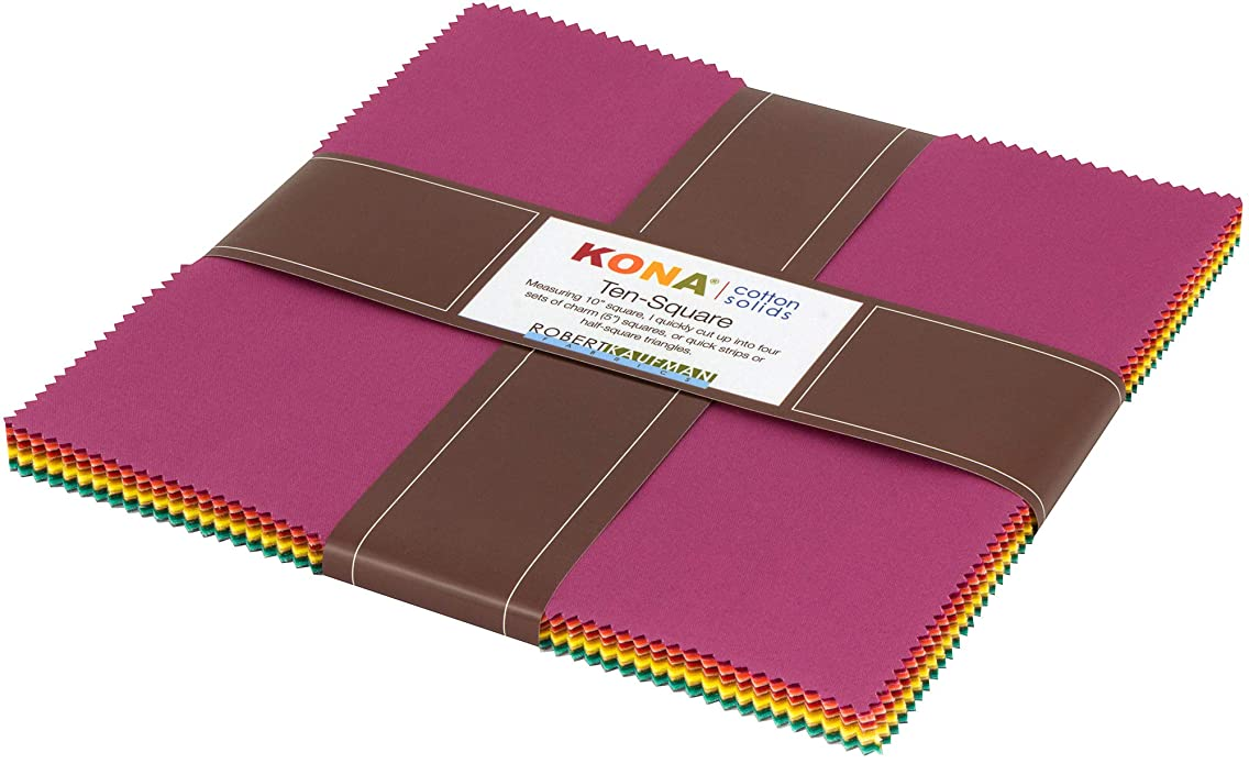 Elizabeth Hartman Kona Cotton Solids Berry Season Coordinates Ten Square 42 10-inch Squares