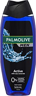 Palmolive Men Active Body Wash With Sea Minerals 0% Parabens Recyclable, 500mL