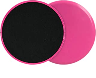 Dual Sided Core Exercise Sliders Gym Gliding Discs Fitness Stretch Yoga Pilates, for Carpet or Hardwood Floors, Compact fo...