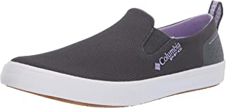 Women's Dorado Slip PFG Boat Shoe, Graphite, Soft Violet, 10.5 Regular US