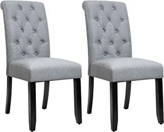 Best dining set with fabric chairs Reviews