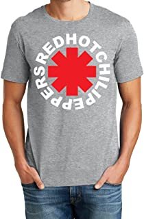 Mens Soft Cotton Red Hot Chili Peppers Asterisk Logo Graphic Tee