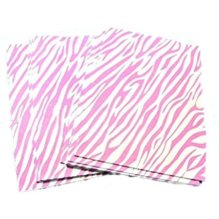 Black and White Striped Party Bag 50 5x7 Zebra Bags Merchandise Flat Paper Bags