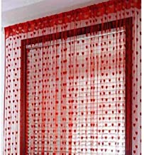 Geo Nature Polyester Eyelet 5ft Door Curtains (Red) -2 Pieces
