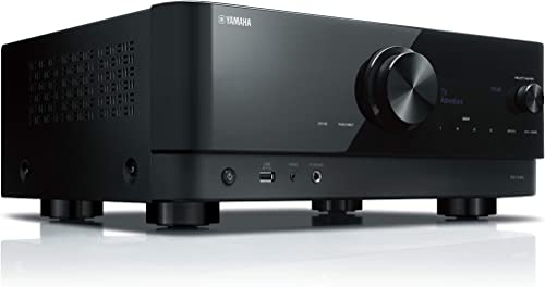 Yamaha RX-V4A 5.2-Channel AV Receiver with Wi-Fi, Bluetooth, MusicCast and Alexa Compatibility, Black
